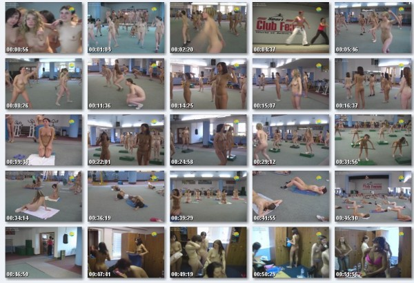 Aerobic - Naked girl nudists and naked sport video [720×480 | 00:55:00 | 840.43 MB]