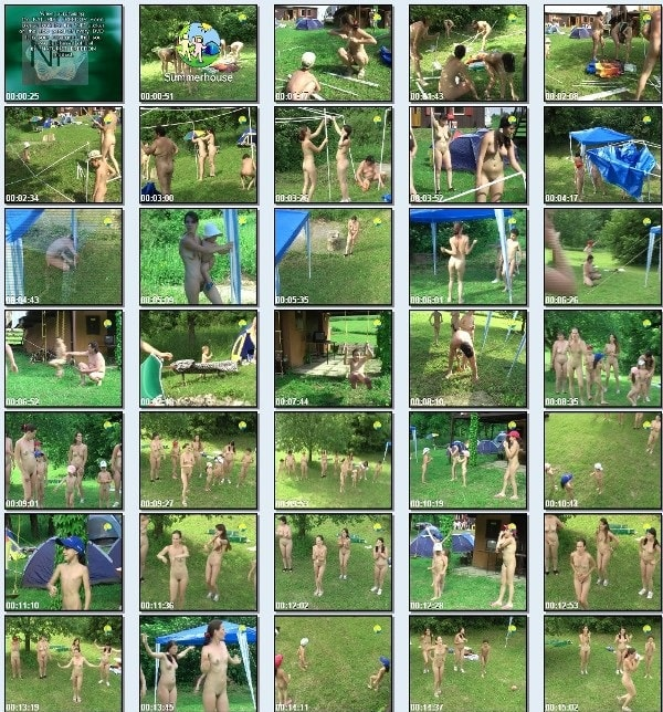 Summerhouse - beauty family nudism video [720×480 | 01:27:07 | 4.4 GB]