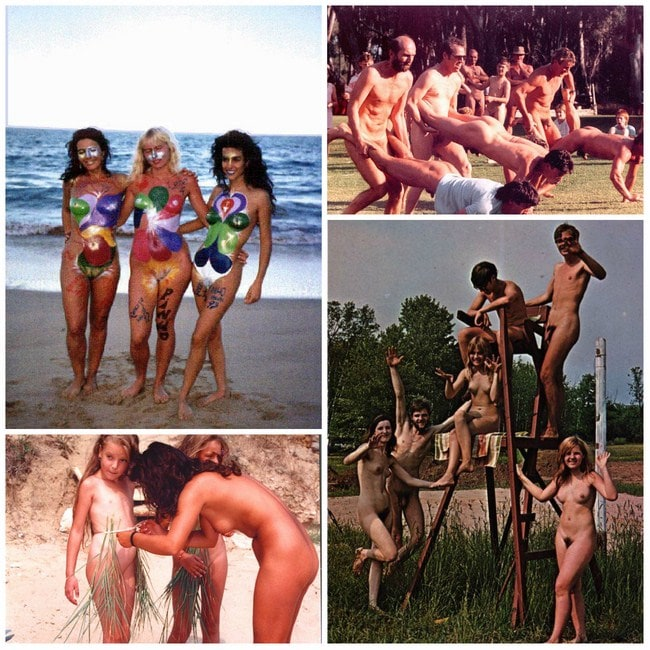 Vintage photo nudism - the culture of nudism