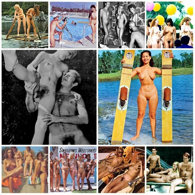 Beautiful nudists from Europe retro photo