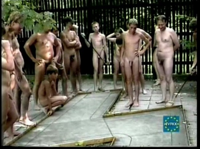 Boys and men nudists - nudist camp video