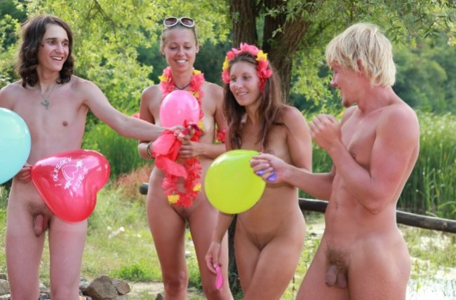 Family nudism on the river new photos