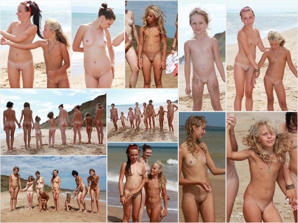 Family nudism sea - purenudism photo