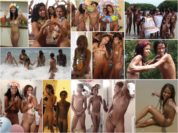 Young nudists in the tropics, family nudism in Brazil photos
