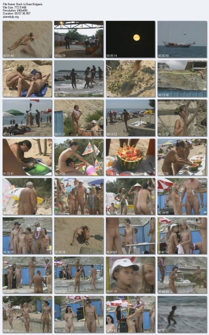 Sunny Bulgaria - documentary video about nudism at a resort in Varna
